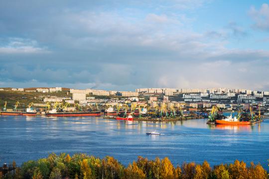 Мурманск вид на город