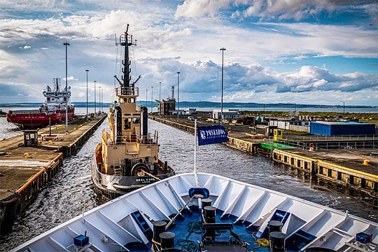 Высадка в порту Лейт, Эдинбург