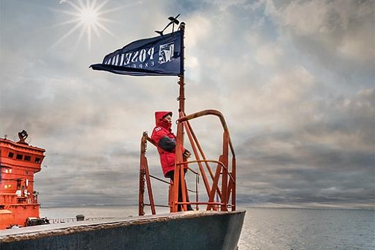 На борту ледокола 50 лет Победы