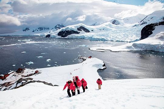 Континент Антарктида пейзаж